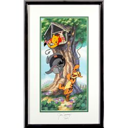 "Winnie the Pooh ""Swing Time with Eeyore"" Limited Edition Sericel Signed by Jim Cummings"