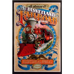 Limited Edition Disneyland Railroad Bicentennial Special Serigraph