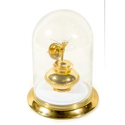 Robert Olszewski Limited Edition Tinkerbell Gold Jewelry Box & Glass Bell Jar Display
