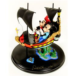 David Kracov Limited Edition Mickey & Minnie Peter Pan Ride Sculpture