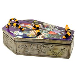 Elisabete Gomes Signed Limited Edition Ceramic Coffin Box from Nightmare Before Christmas