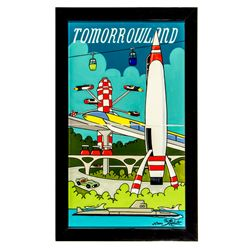 Limited Edition Elisabete Gomes Disneyland Tomorrowland Ceramic Artwork