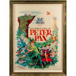 Walt Disney Les Aventures de Peter Pan French Lithograph