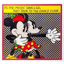 Lichtenstein Mickey & Minnie Lithograph