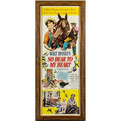 Walt Disney's So Dear to My Heart 1964 Re-release Daybill