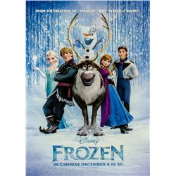 Original Production Prototype One-sheet Poster for Disney's Frozen