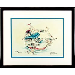 Jim Shull Signed Print of Donald's Boat from Mickey's Toontown
