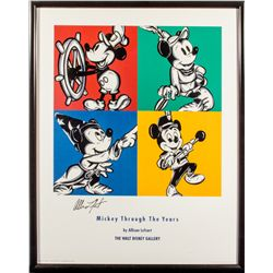 "Signed Allison Lefcort ""Mickey Through the Years"" Art Print"