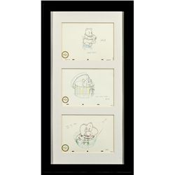 Set of 3 Walt Disney Classics Collection Winnie-the-Pooh, Lady and Dumbo Sketch Prints