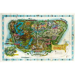 Original 1962 Disneyland Map with Envelope