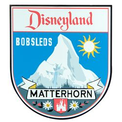 Limited Edition Disneyland Matterhorn Bobsleds Attraction Sign