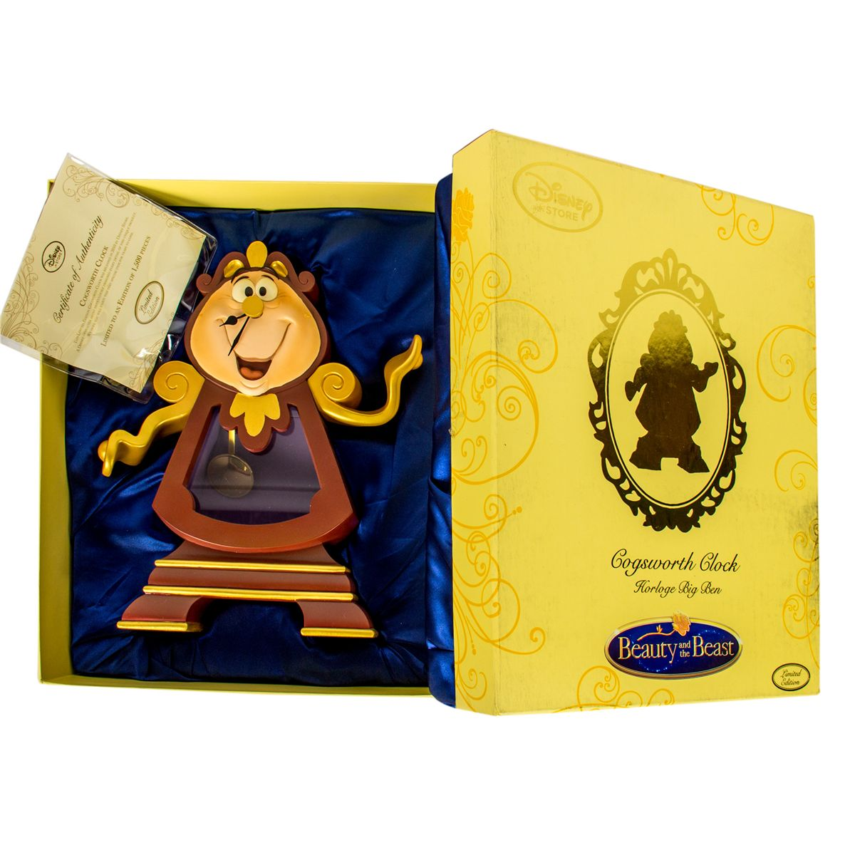 Limited Edition Cogsworth Clock Statue From Beauty The Beast