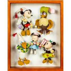 Set of 5 Hand-Made Mickey Mouse & Friends Character Felt Ornaments
