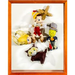 Set of 4 Hand-Made Pinocchio Character Felt Ornaments