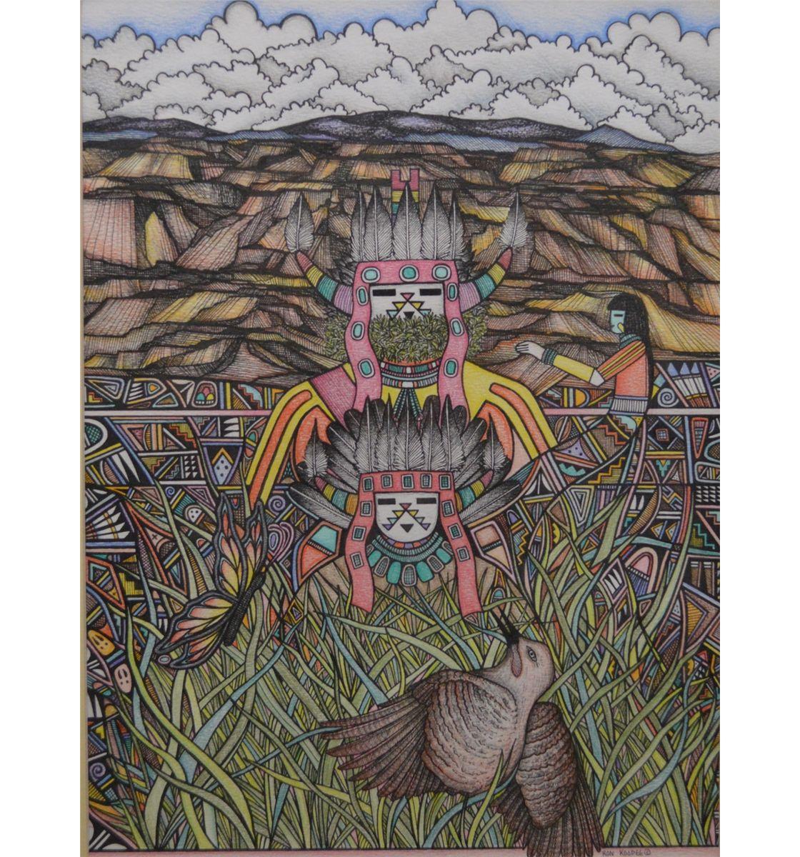 ORIGINAL HOPI DRAWING  Hopi Drawings
