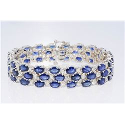 36 CT Diamond & Sapphire Bracelet