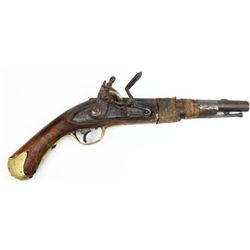 Antique flintlock pistol from the fur trade period