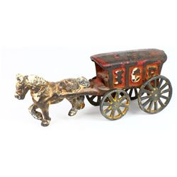 Antique cast iron Ice Wagon toy