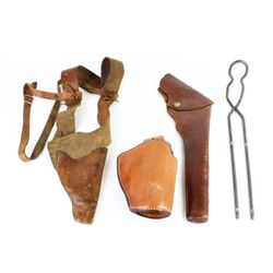 Collection of 4 includes leather flap holster