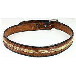 Montana State Prison belt leather and hitched