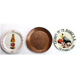 Collection of 3 includes 2 advertising tip trays