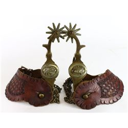 Buermann bronze spurs with Indian head,