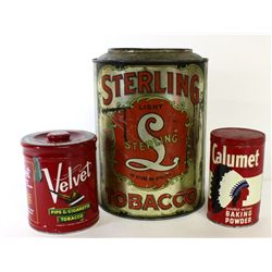 Collection of 3 tins includes large Sterling