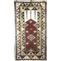 Wool Turkish rug hand woven in natural