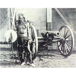 Large quality print of Indian warrior standing