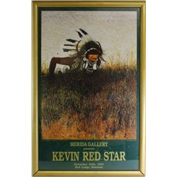 Framed Kevin Red Star gallery poster 1991