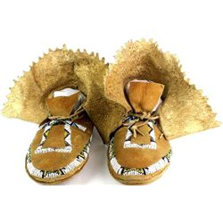 1890's-1900 Blackfoot high top moccasins