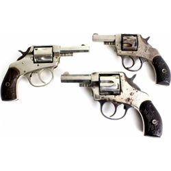 Collection of 3 double action revolvers