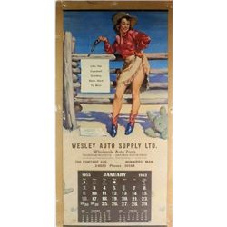 Collection of 2 calendars includes 1940 East End