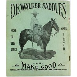 Original Visalia Saddle catalog No. 31