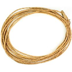 Qualty old pencil thin reata braided rawhide