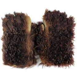 Hair on Buffalo leather gloves