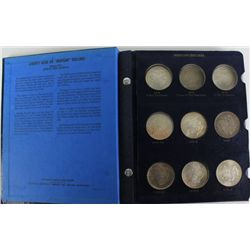 Collection of 24 Morgan silver dollars includes
