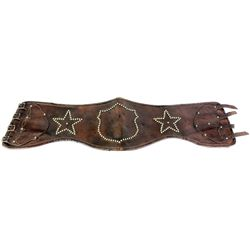 Good early leather bronc belt