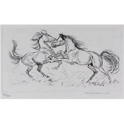 Original etching by Nancy McLaughlin (1932-1985)