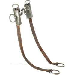 Early military style bit with leather straps