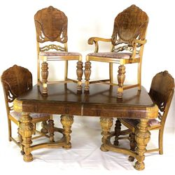 Trendy Art Deco dining room table and 4 matching