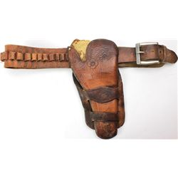 Unmarked double loop holster and belt for Colt