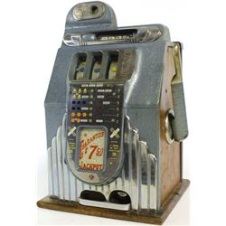 1940's Buckley 5c Criss Cross slot machine.