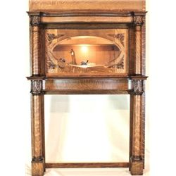 Antique oak quarter sawn fireplace mantle