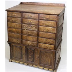 Large oak file cabinet the upper cabinet