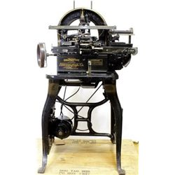 C. 1900's Graphotype machine for stamping dog tags