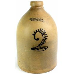 4 gallon stoneware crock stamped D Weston