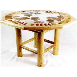 Custom pine poker game table