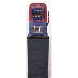 Mills 5c Hightop slot machine with its metal