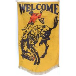 Great old rodeo Welcome banner